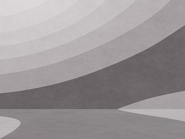 3d gerenderter abstrakter schwarzweiss-konturpapierkunsthintergrund Premium Fotos