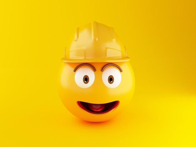 3d konstruktion emoji icons mit helm Premium Fotos