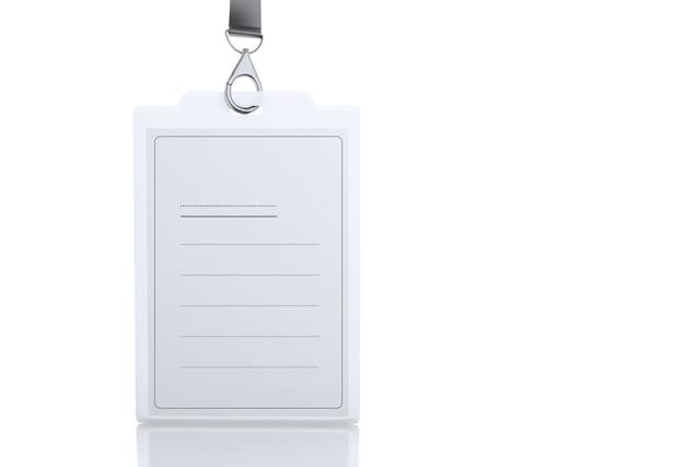3d-kunststoff-id-abzeichen mit lanyard Premium Fotos