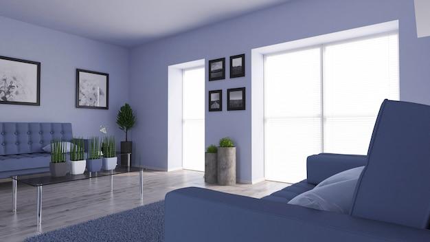 3D modernes Wohnzimmer Interieur und moderne Möbel | Download der ...