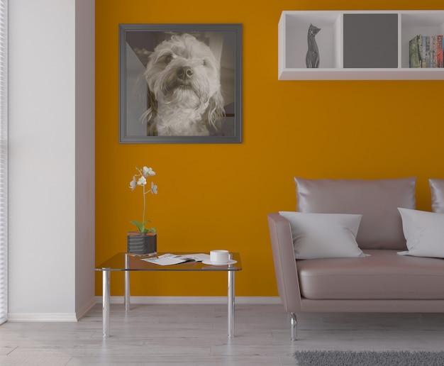 3d Modernes Wohnzimmer Interieur Und Moderne Mobel Download Der