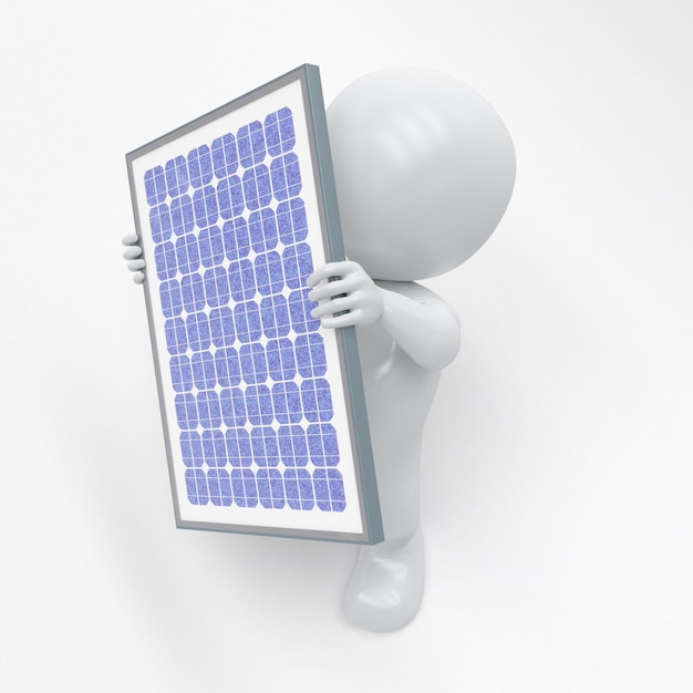 3d morph man mit solarpanel Kostenlose Fotos