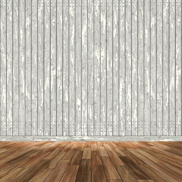 3D-Raum Interieur mit Holzwänden und Boden | Download der ...