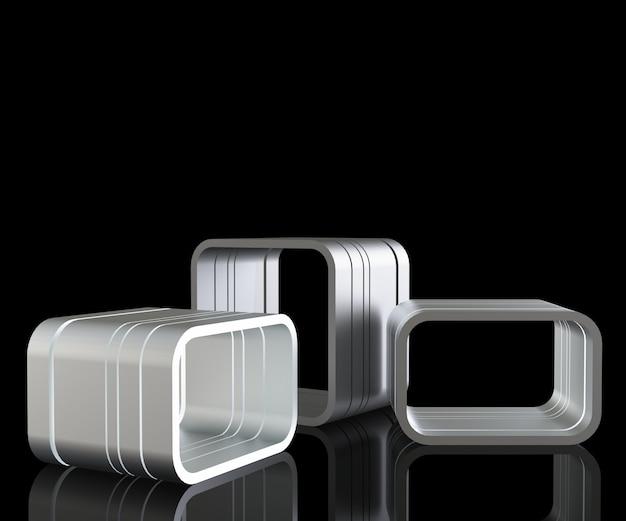 3d render metall podium Premium Fotos