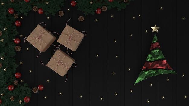 3d render weihnachten hintergrund für grußkarte Kostenlose Fotos