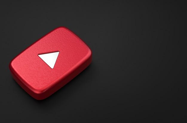 3d-rendering des youtube-logos Premium Fotos