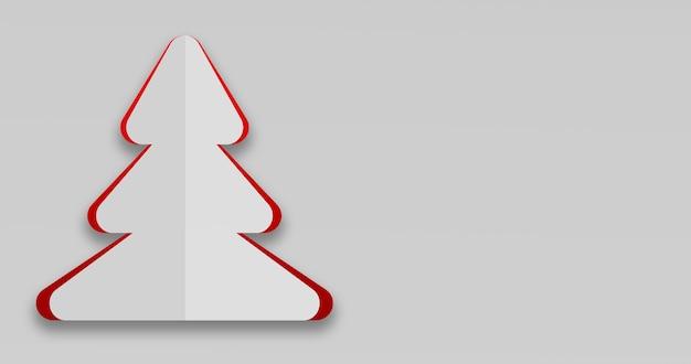 3d-rendering einer einfachen weihnachtskarte in weihnachtsbaumform Kostenlose Fotos
