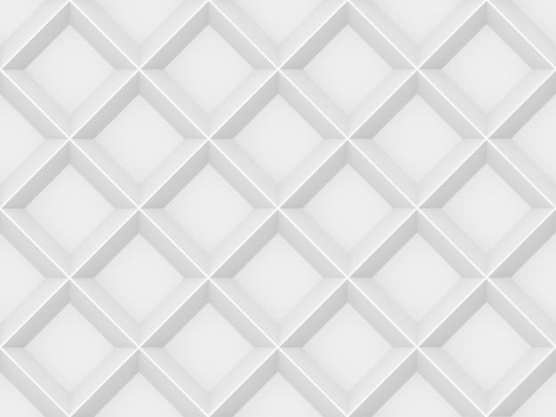 3d-rendering. nahtlose moderne weiße graue quadrat raster wandgestaltung textur hintergrund. Premium Fotos