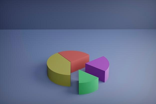 3d-rendering, satz verschiedener kreisdiagramme Premium Fotos