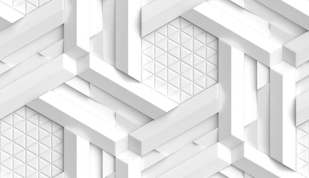 3d-tapete in form der nachahmung des dekorativen origami-mosaiks der weißen farbe Premium Fotos