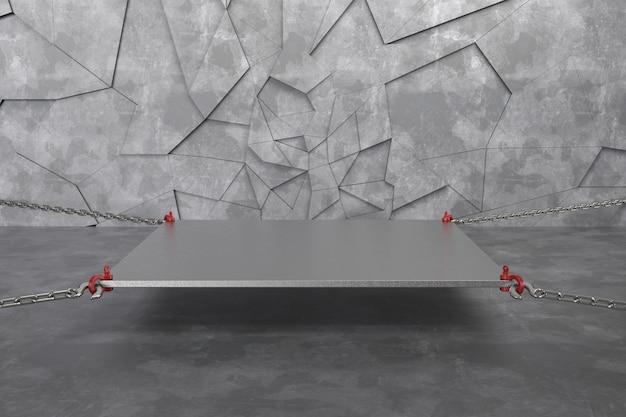 3d übertragen leeres podium des abstrakten hintergrundes, sockel, szene Premium Fotos
