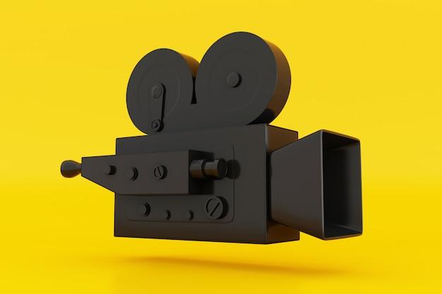3d vintage filmkamera. Premium Fotos