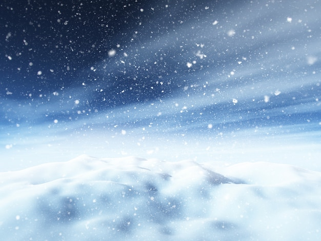 3d weihnachten schneelandschaft Kostenlose Fotos