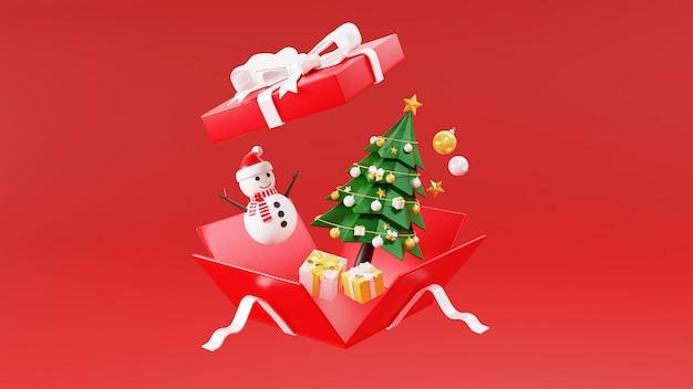 3d-wiedergabe der geschenkbox Premium Fotos