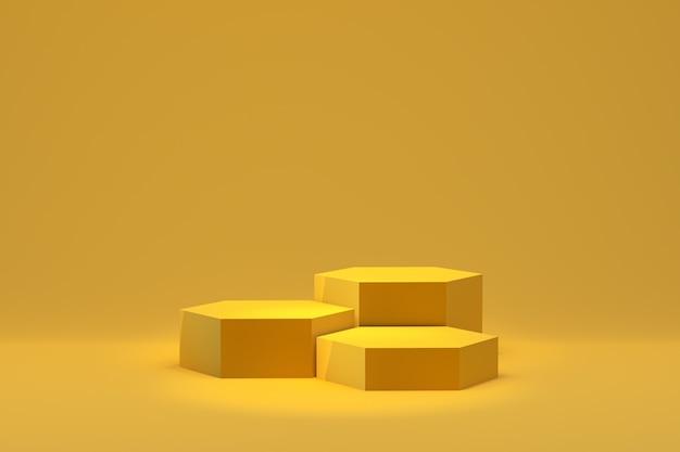 3d wiedergabe, minimaler abstrakter hintergrund des podiums für kosmetische produktdarstellung, abstrakte geometrische form Premium Fotos