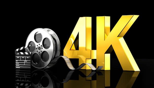 4 k-film-konzept Premium Fotos