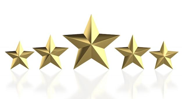 5 goldener stern Premium Fotos