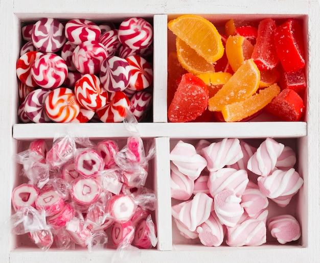 Abschluss des bündels köstlicher süßigkeiten Kostenlose Fotos