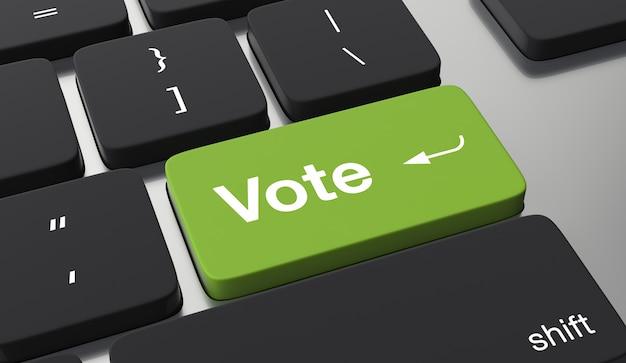 Abstimmung online konzept Premium Fotos