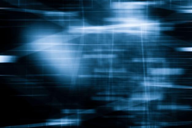Abstrakte bewegung unscharfer hintergrund. blauer farbton. bewegungsbeleuchtung in der stadtfotoaufnahme. Premium Fotos