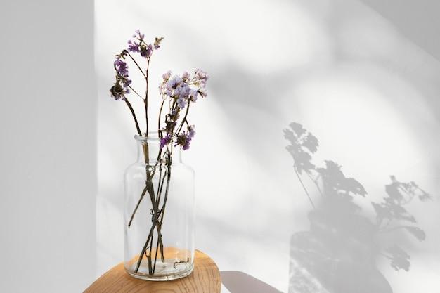 Abstrakte minimale konzeptblumen und -schatten Kostenlose Fotos