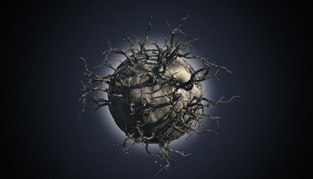 Abstrakte planetenszene Kostenlose Fotos