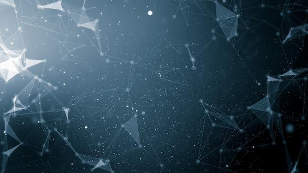 Abstrakte plexustechnologie schließt an und futuristischer netzhintergrund des wissenschaftskonzepthintergrundes Premium Fotos
