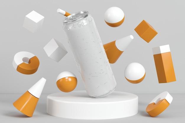 Abstrakte pop-top-soda-behälter-präsentation Kostenlose Fotos