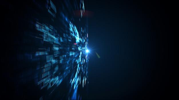 Abstrakte technologie big data. Premium Fotos
