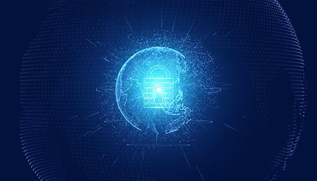 Abstrakte technologie cybersicherheit datenschutz Premium Fotos