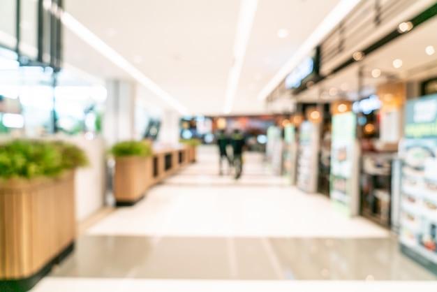 Abstrakte unschärfe einkaufszentrum Premium Fotos
