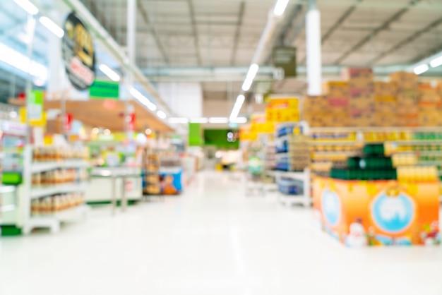 Abstrakte unschärfe im supermarkt Premium Fotos