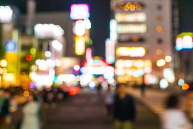 Abstrakte unschärfe menschenmenge am osaka street market Premium Fotos
