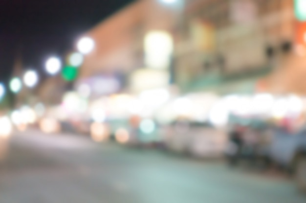 Abstrakte unschärfe straßenlaternen. Premium Fotos