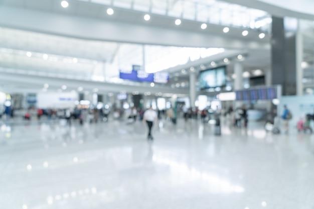 Abstrakte unschärfe und defokussierter flughafen Premium Fotos