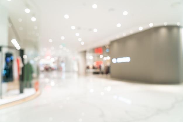 Abstrakte unschärfe und defokussiertes luxus-einkaufszentrum Premium Fotos