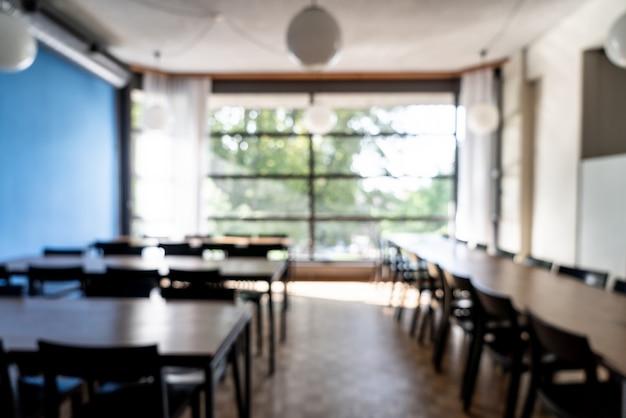 Abstrakte unschärfe und unschärfe im hotelrestaurant Premium Fotos