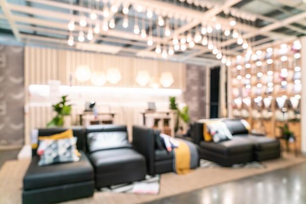 Abstrakte unschärfemöbeldekoration und lagerspeicherinnenraum Premium Fotos