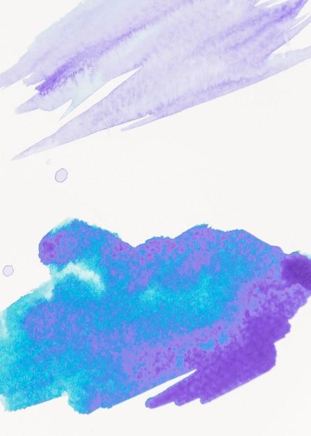 Abstrakter blauer malereibürstenstrich auf segeltuch Kostenlose Fotos