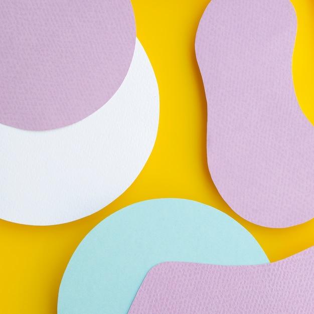 Abstrakter flüssiger geometrischer papierhintergrund Kostenlose Fotos