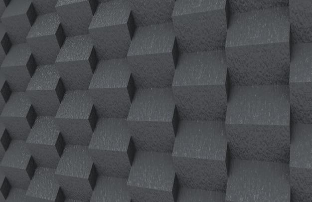 Abstrakter gelegentlicher dunkler steinquadratkastenstapelwand-designhintergrund. Premium Fotos