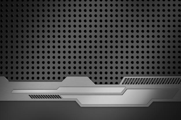 Abstrakter hintergrund aus metall. 3d-rendering. Premium Fotos