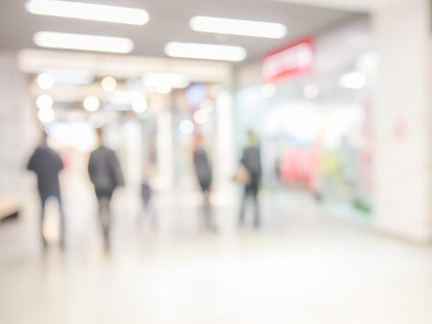 Abstrakter hintergrund des einkaufszentrums, flache schärfentiefe. Premium Fotos