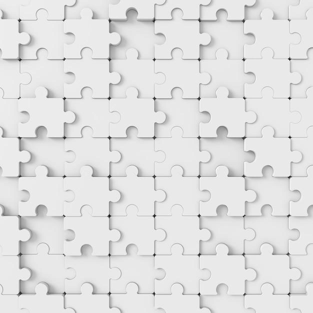 Abstrakter hintergrund des puzzlen. 3d-rendering. Premium Fotos