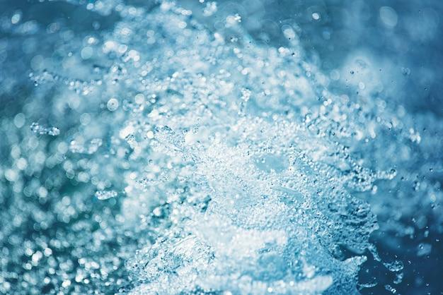 Abstrakter hintergrund des wasserspritzens Premium Fotos