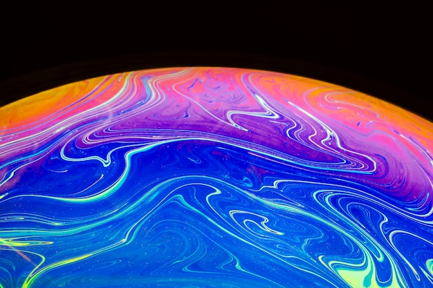 Abstrakter hintergrund mit blauer rosa und orange kugel Kostenlose Fotos