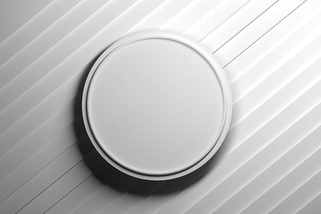 Abstrakter hintergrund mit rundem weißem sockelpodium in der mitte. abbildung 3d. Premium Fotos