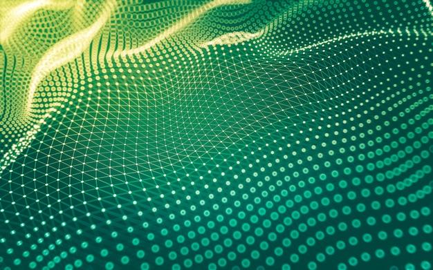 Abstrakter hintergrund. molekültechnologie mit polygonalen formen, die punkte und linien verbinden Premium Fotos