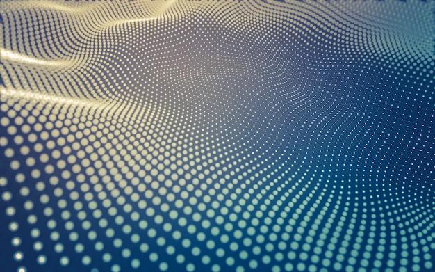 Abstrakter hintergrund. molekulartechnologie mit polygonalen formen, die punkte und linien verbinden Premium Fotos