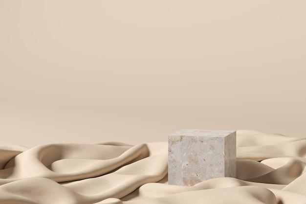 Abstrakter hintergrund, szene für produktanzeige. 3d-rendering Premium Fotos